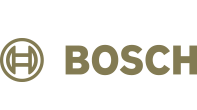 Bosch logotipas auksinės spalvos