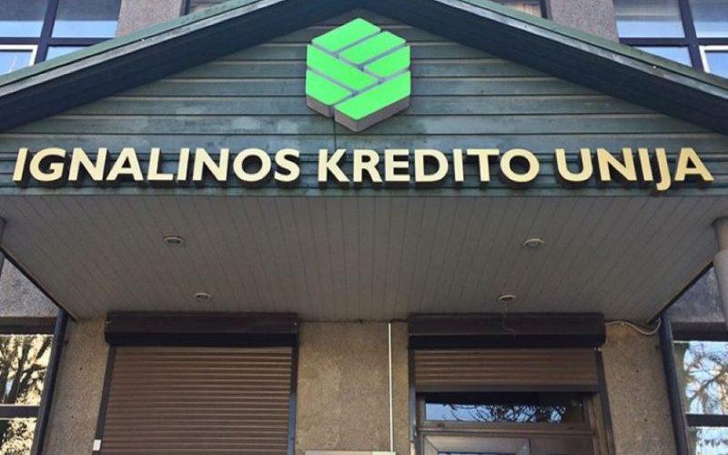 Tūrinės šviečiančios Ignalinos Kredito Unija raidės