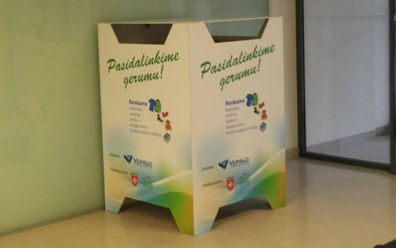 Nestandartiniai gaminiai - fanerinė dėžė su spauda