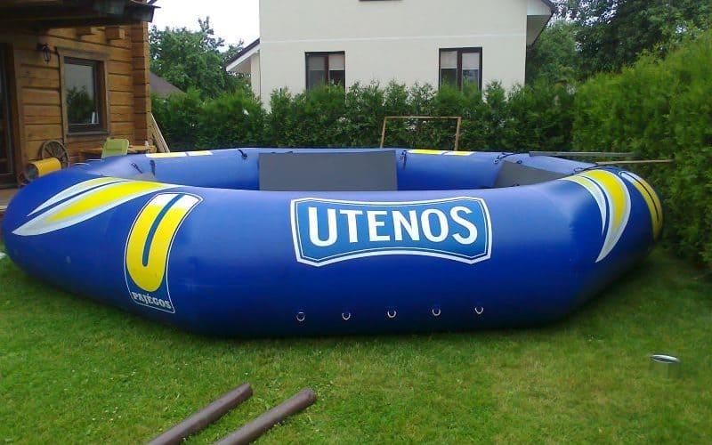 Dizaino kūrimas ir maketavimas ant įvairių paviršių su Utena logotipu