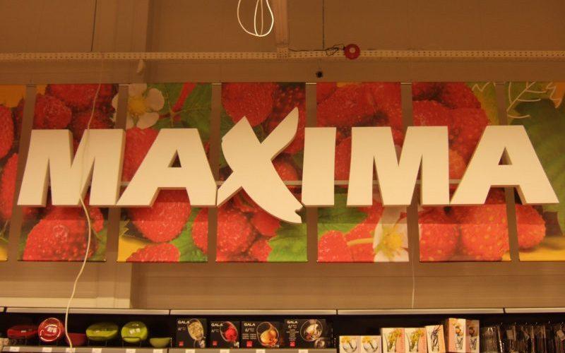 Plastikinės nešviečiančios tūrinės Maxima raidės