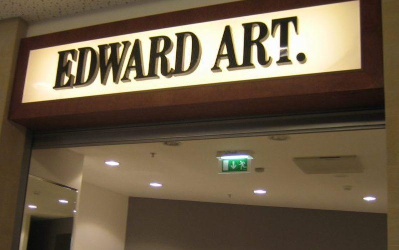 Vidaus reklama - tūrinės Edward Art. raidės ant šviesdėžės