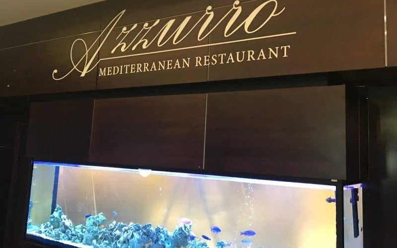 Plastikinės tūrinės raidės Azzurro restoranui